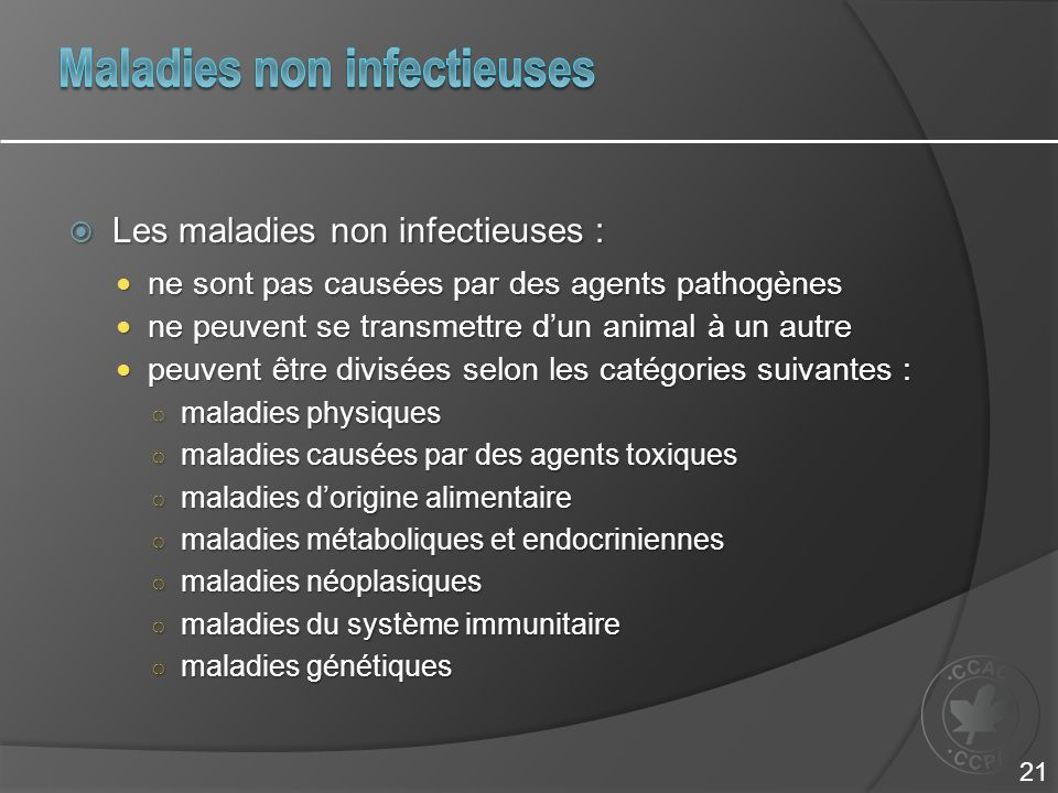 Maladies non infectieuses