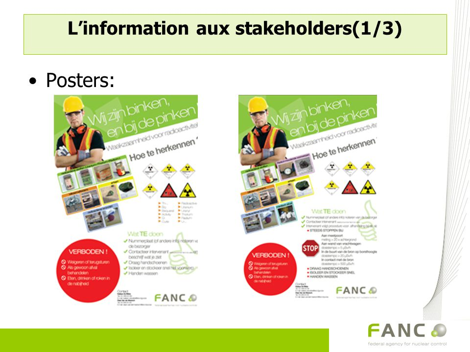 L'information aux stakeholders(1/3)