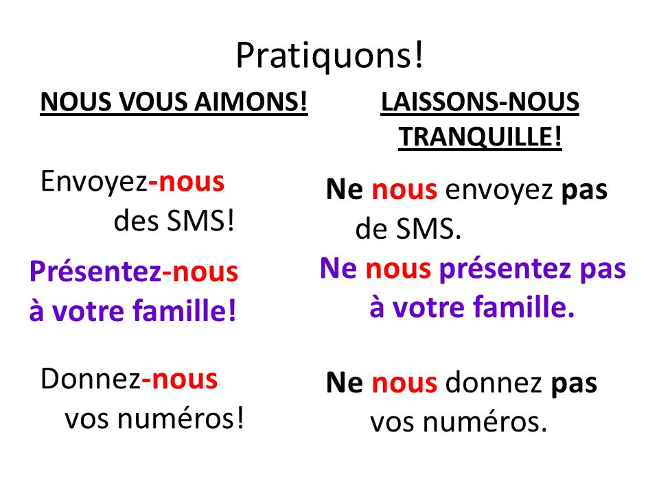 LAISSONS-NOUS TRANQUILLE!