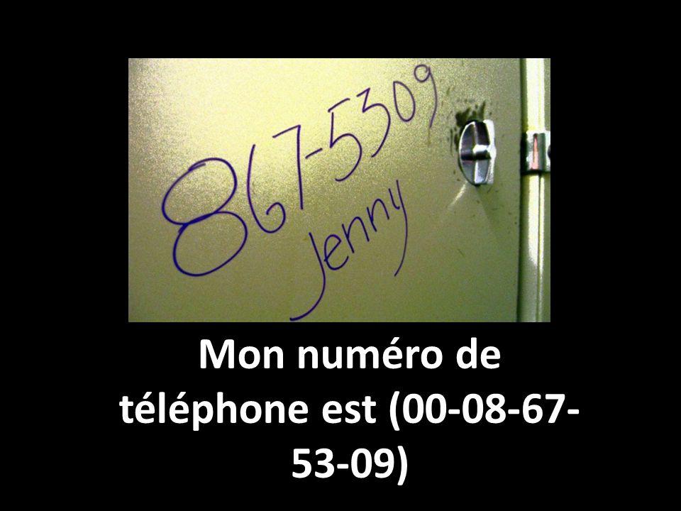 Mon numéro de téléphone est (00-08-67-53-09)