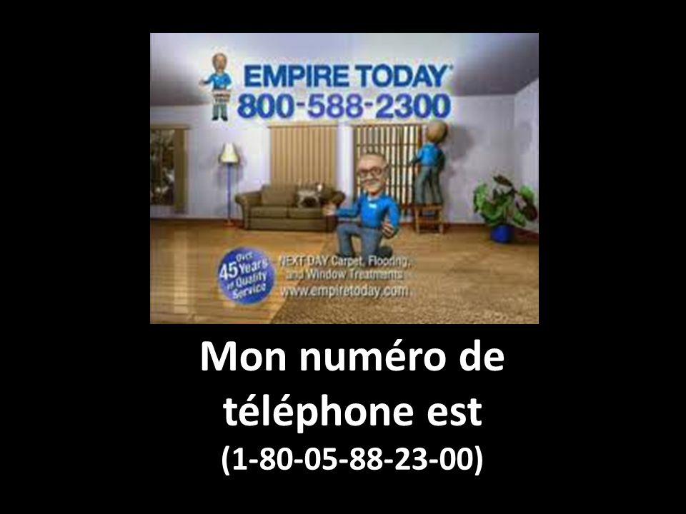 Mon numéro de téléphone est