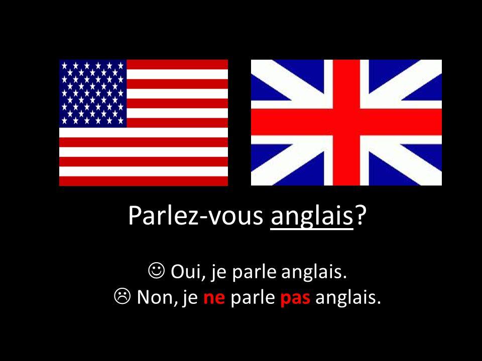  Non, je ne parle pas anglais.