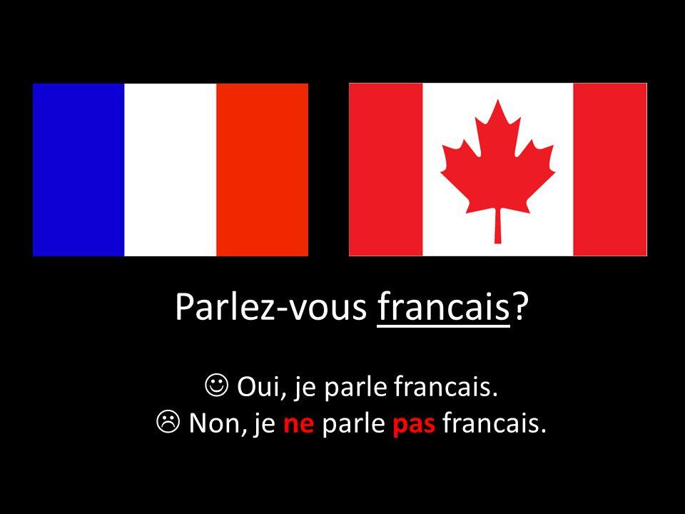  Non, je ne parle pas francais.