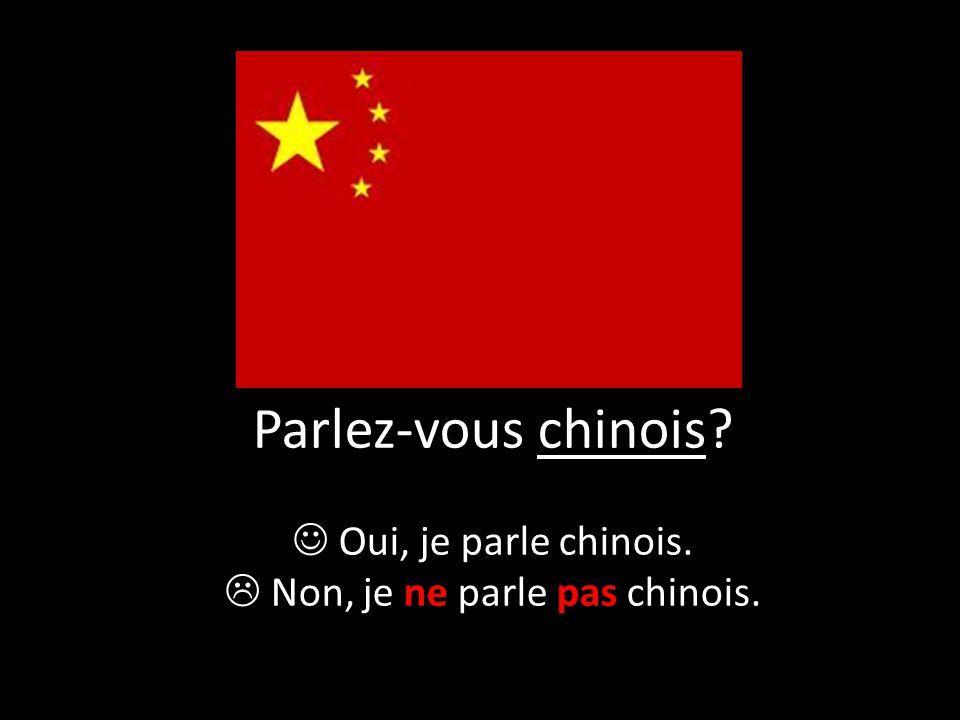  Non, je ne parle pas chinois.