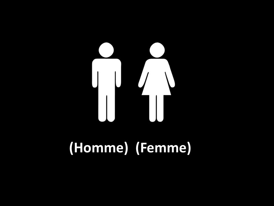 (Homme) (Femme)