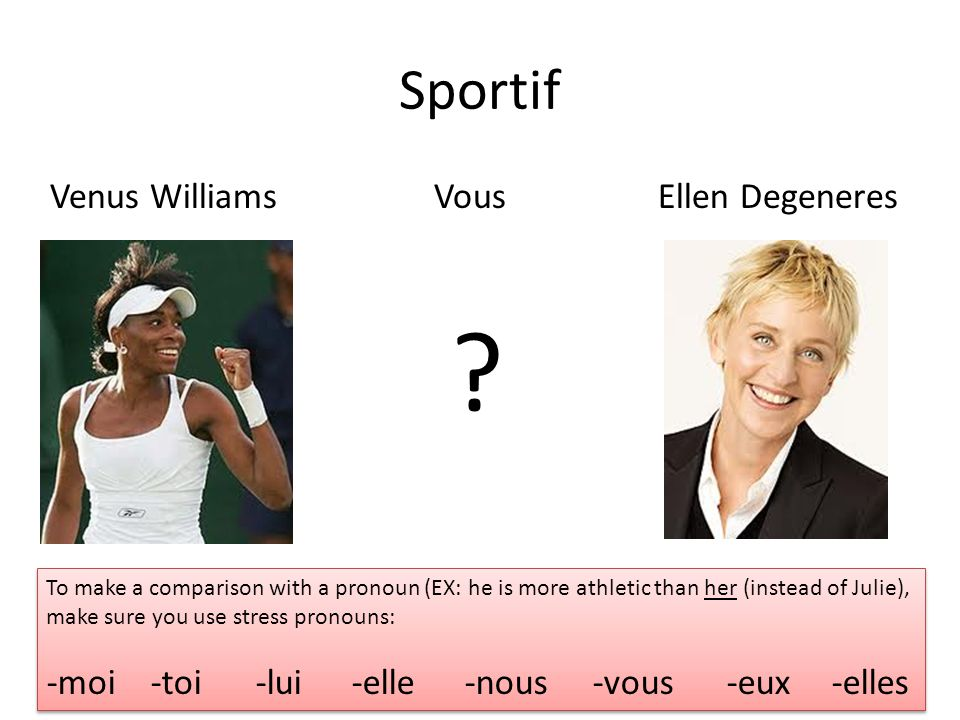 Sportif Venus Williams Vous Ellen Degeneres