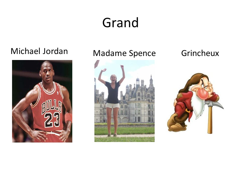 Grand Michael Jordan Madame Spence Grincheux