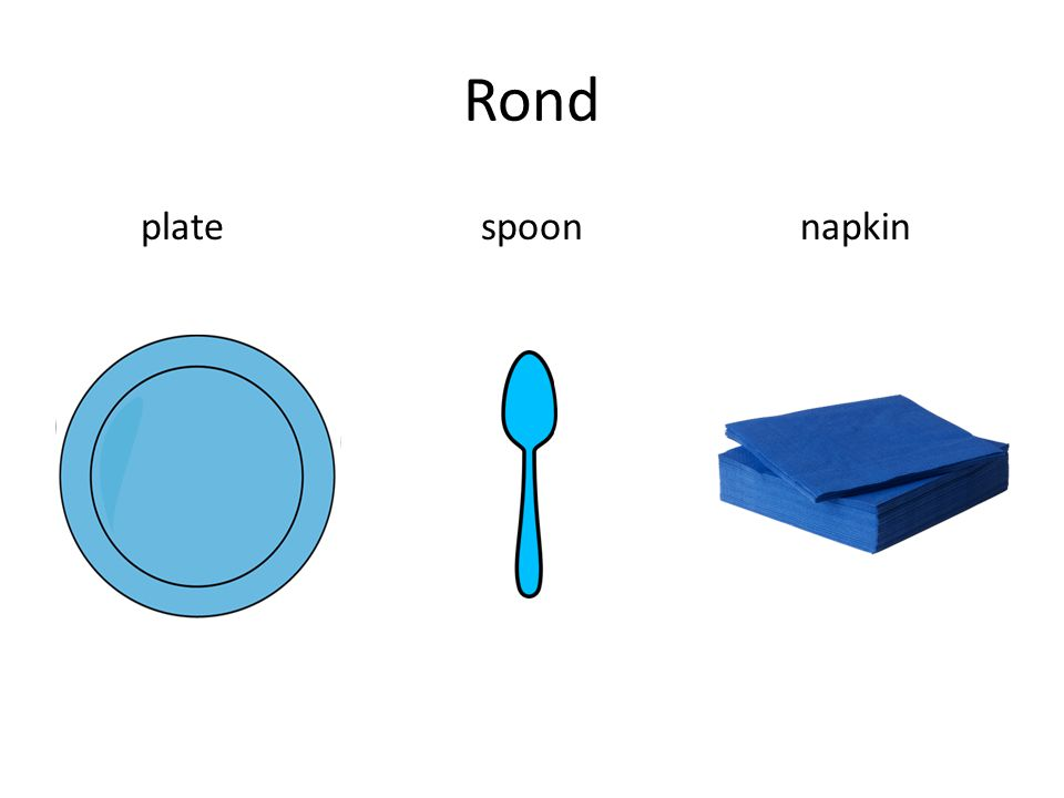 Rond plate spoon napkin