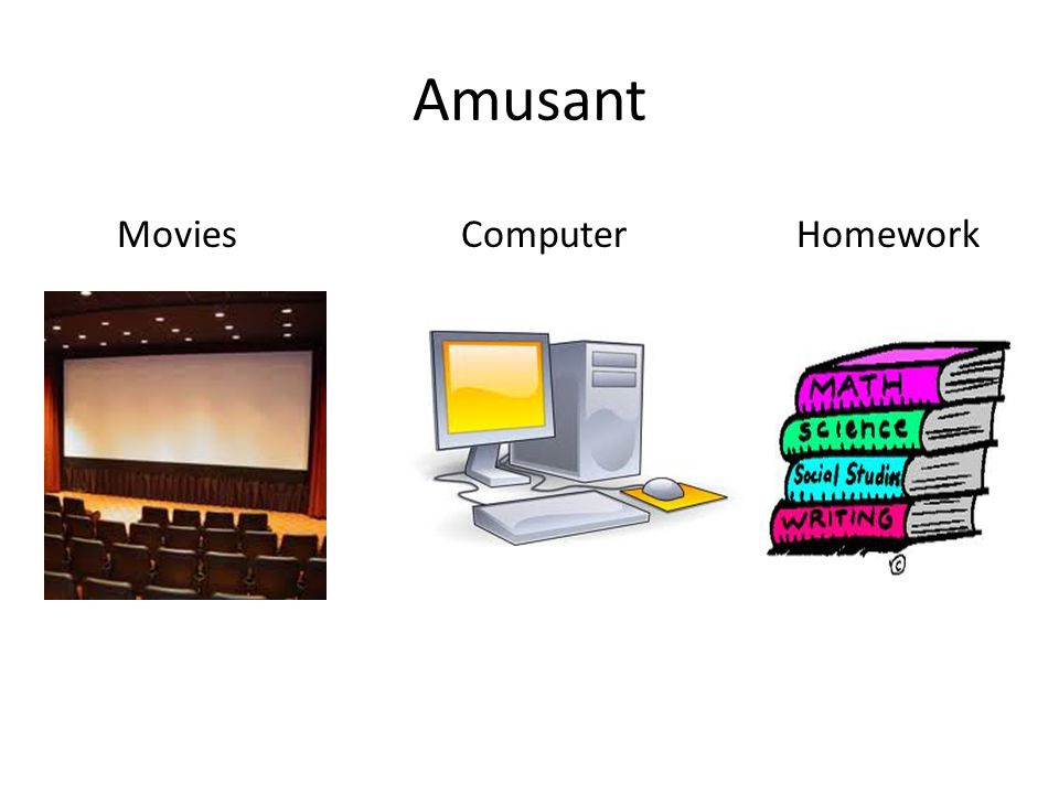 Amusant Movies Computer Homework