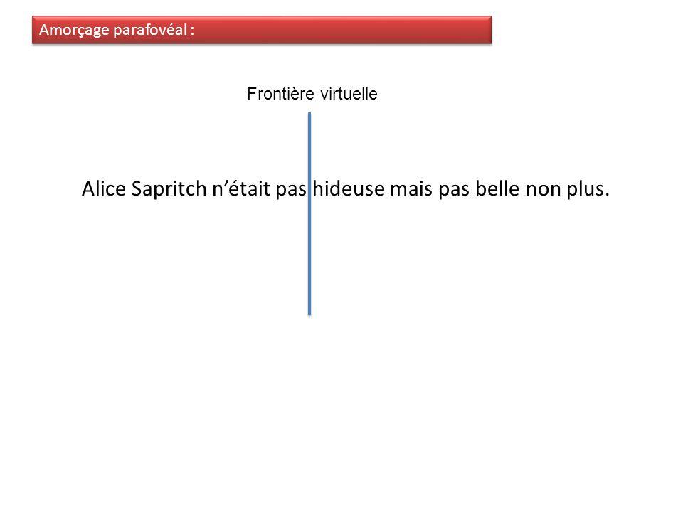 Alice Sapritch n'était pas hideuse mais pas belle non plus.