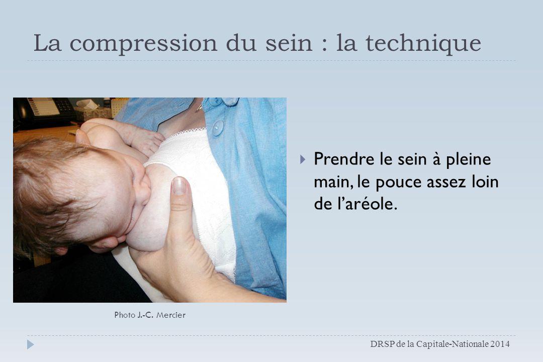 La compression du sein : la technique