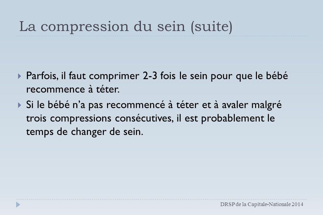 La compression du sein (suite)