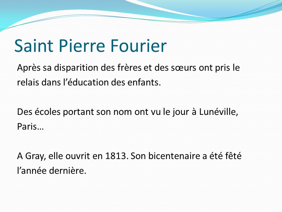 Saint Pierre Fourier