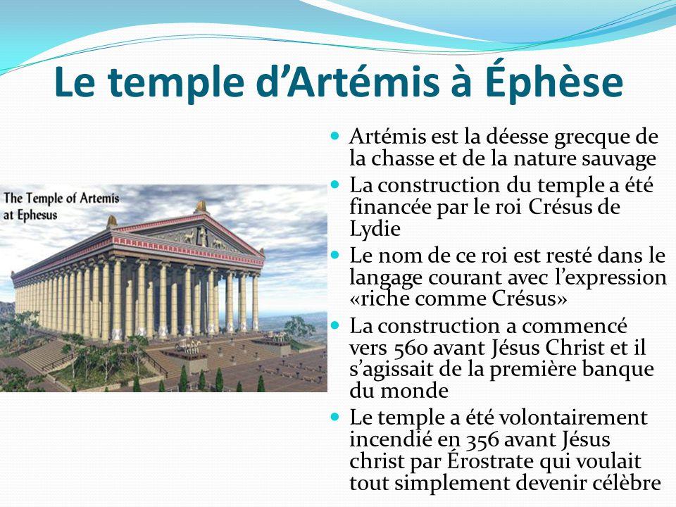 Le temple d'Artémis à Éphèse