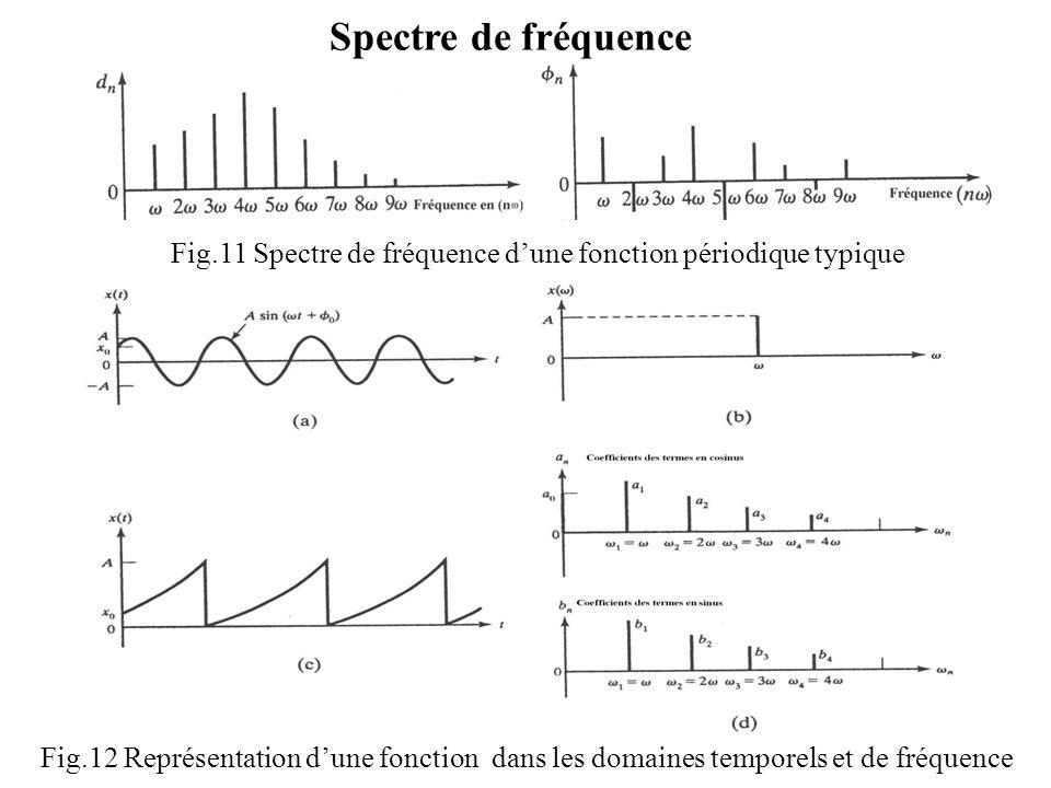 Fig.11 Spectre de fréquence d'une fonction périodique typique