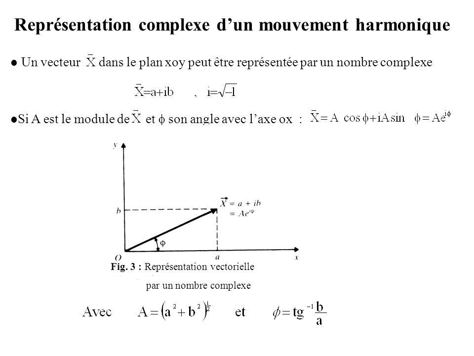 Représentation complexe d'un mouvement harmonique