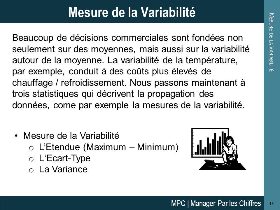 Mesure de la Variabilité