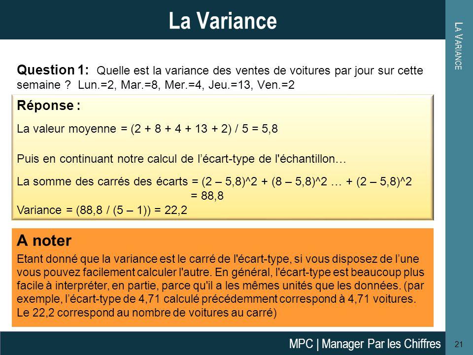 La Variance La Variance.