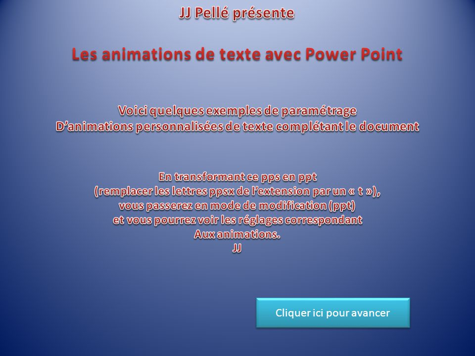 Les animations de texte avec Power Point