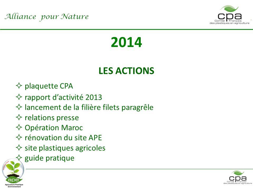 2014 LES ACTIONS plaquette CPA rapport d'activité 2013