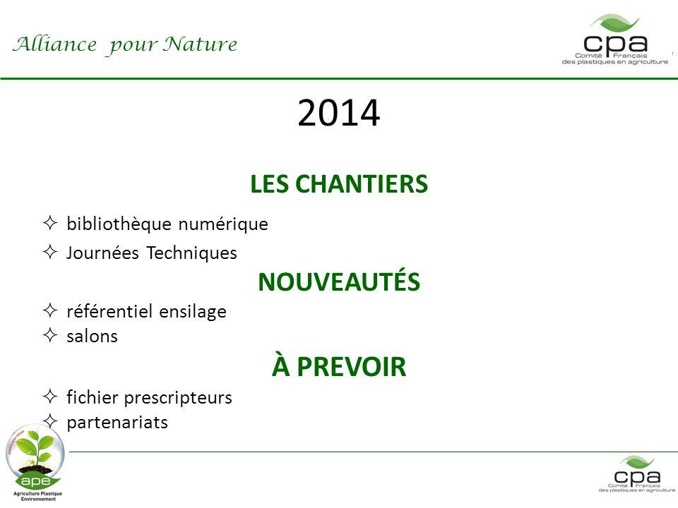 2014 À PREVOIR LES CHANTIERS NOUVEAUTÉS bibliothèque numérique