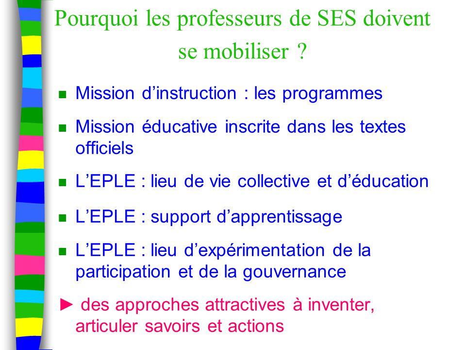 Pourquoi les professeurs de SES doivent se mobiliser