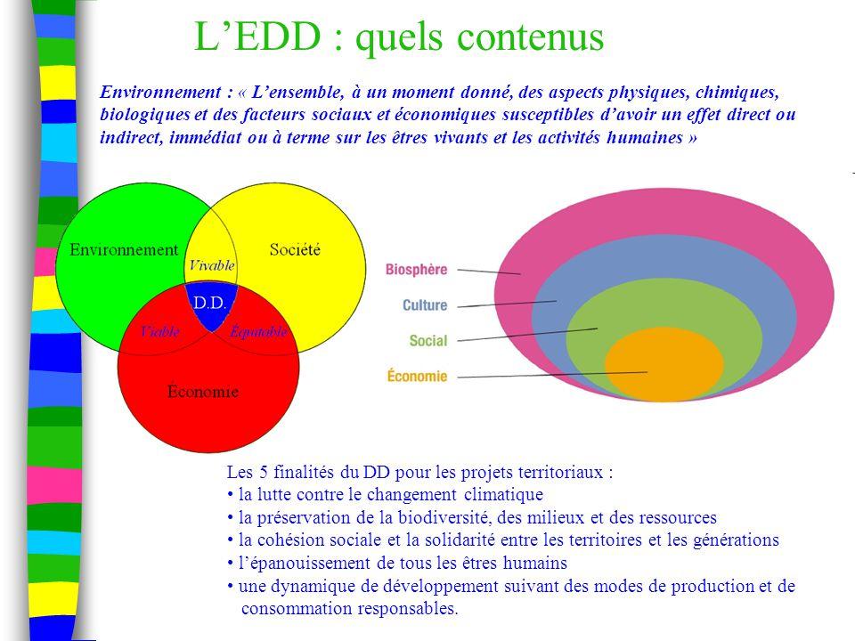 L'EDD : quels contenus