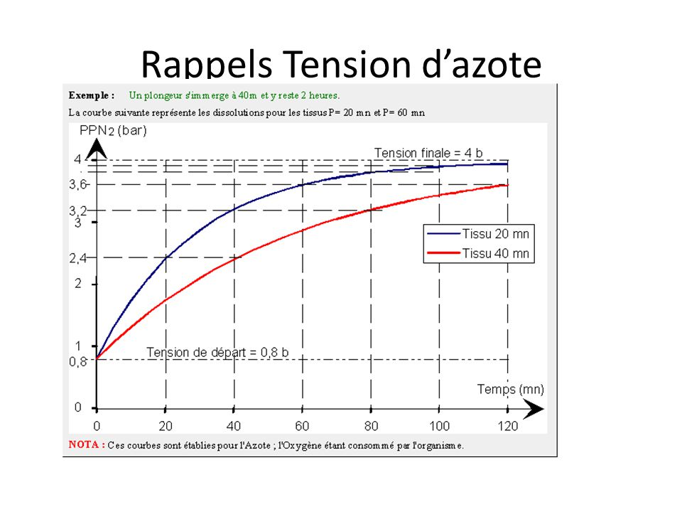 Rappels Tension d'azote
