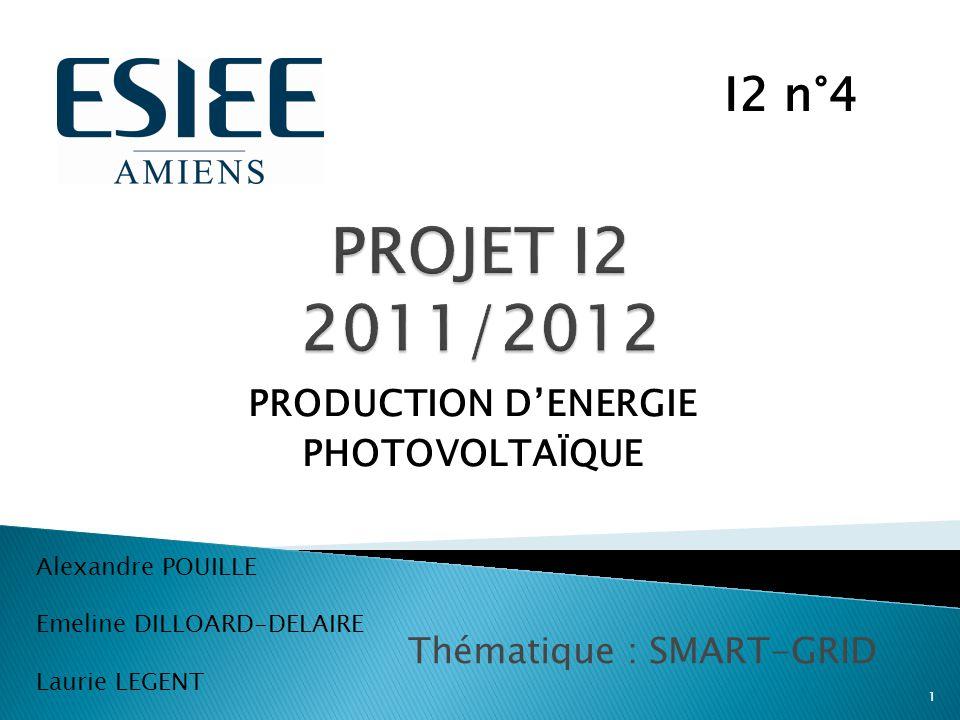 PRODUCTION D'ENERGIE PHOTOVOLTAÏQUE