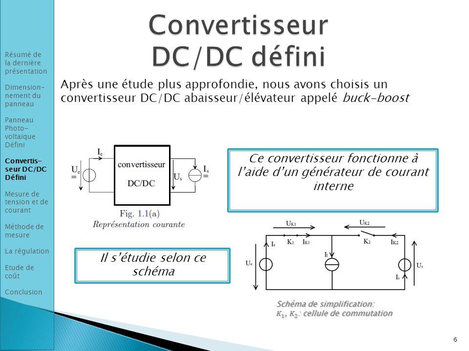 Convertisseur DC/DC défini