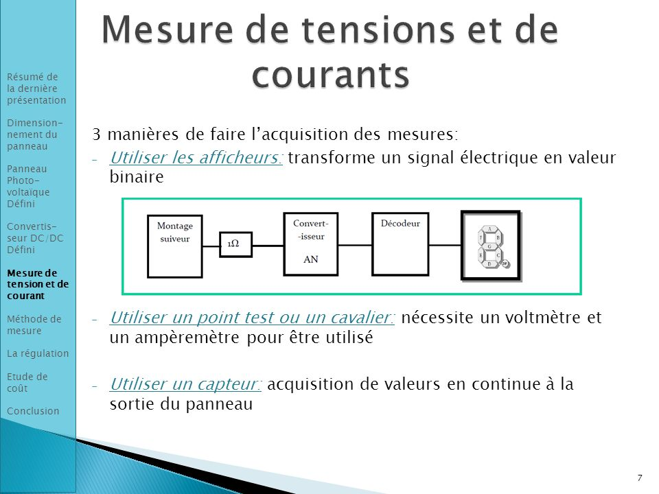 Mesure de tensions et de courants