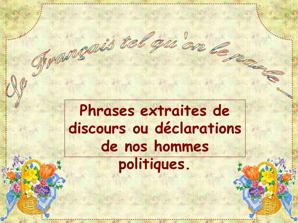 Le Français tel qu on le parle !