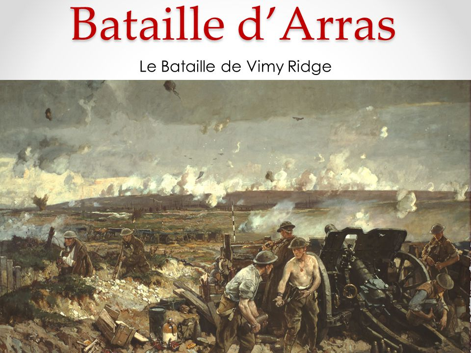 Le Bataille de Vimy Ridge