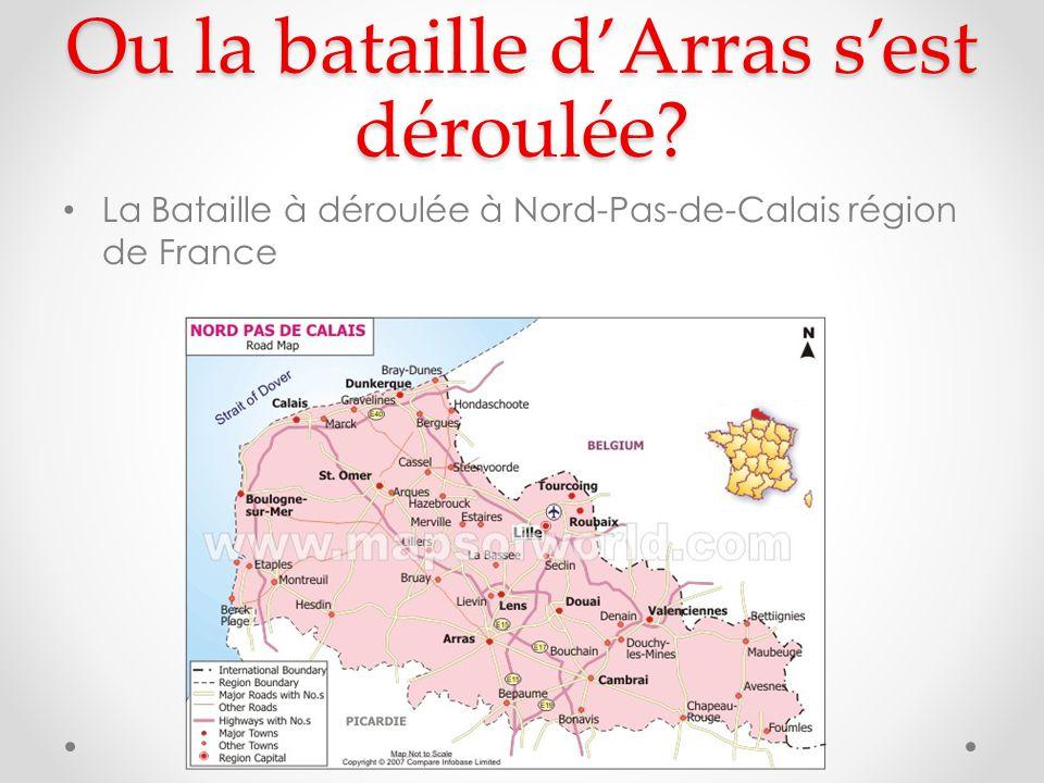 Ou la bataille d'Arras s'est déroulée