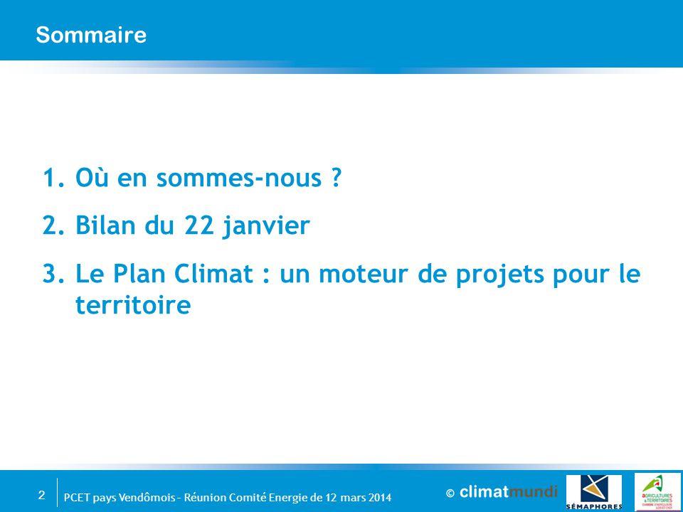 Le Plan Climat : un moteur de projets pour le territoire