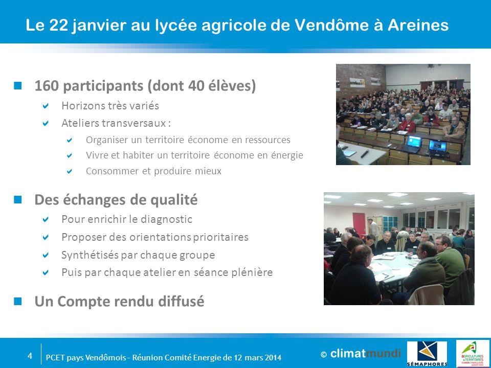Le 22 janvier au lycée agricole de Vendôme à Areines