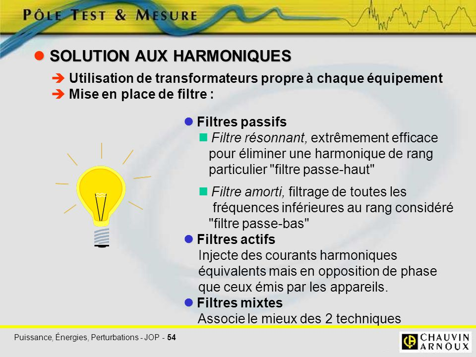  SOLUTION AUX HARMONIQUES