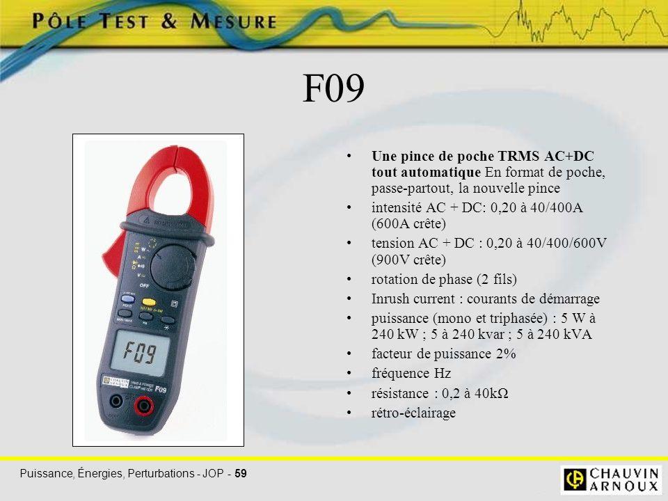 F09 Une pince de poche TRMS AC+DC tout automatique En format de poche, passe-partout, la nouvelle pince.