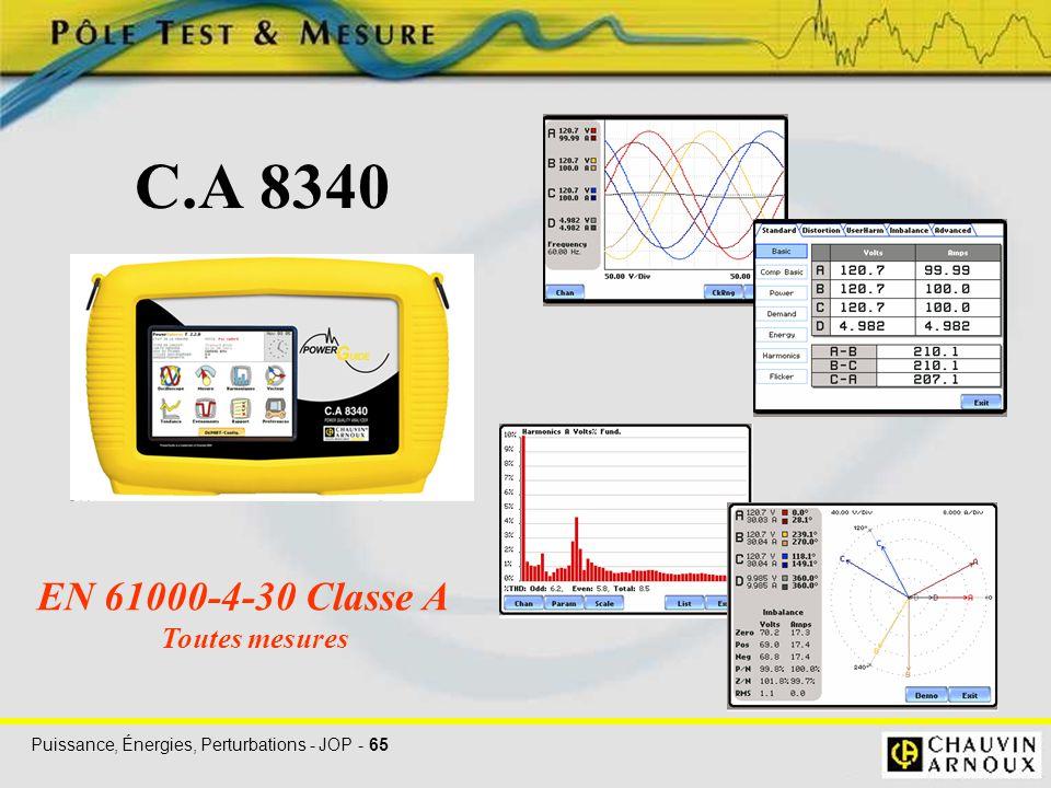 C.A 8340 EN 61000-4-30 Classe A Toutes mesures