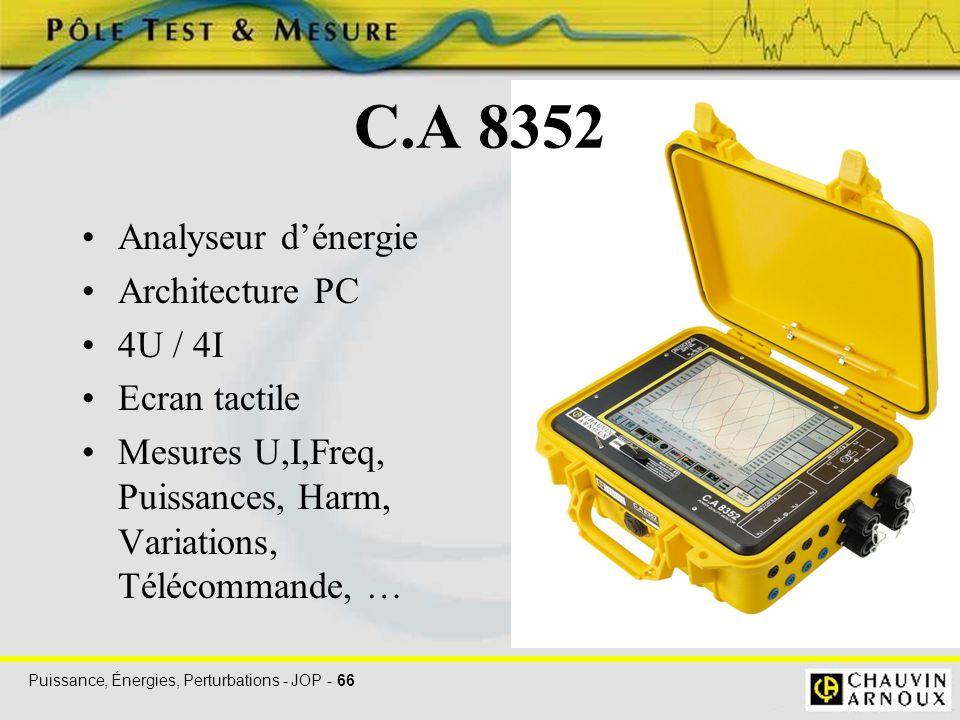 C.A 8352 Analyseur d'énergie Architecture PC 4U / 4I Ecran tactile