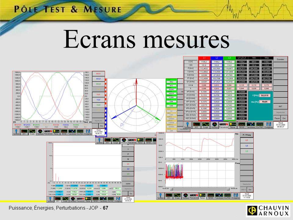 Ecrans mesures