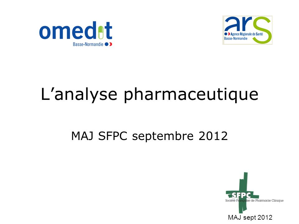 L'analyse pharmaceutique