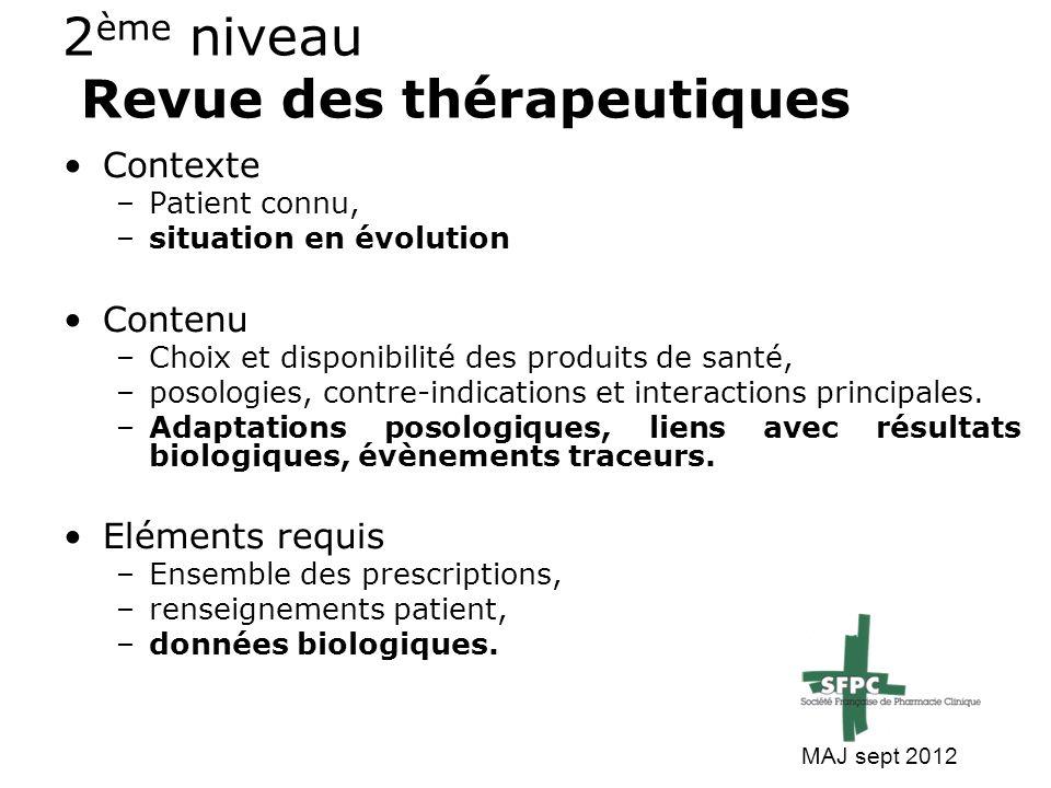 2ème niveau Revue des thérapeutiques