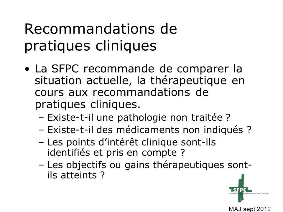 Recommandations de pratiques cliniques
