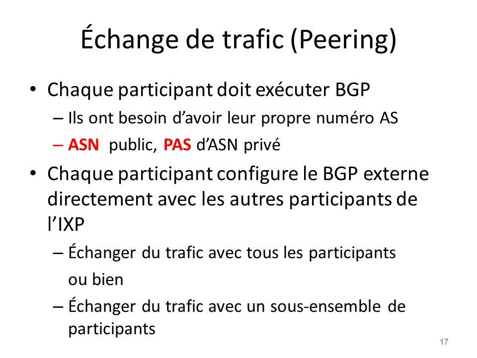 Échange de trafic (Peering)