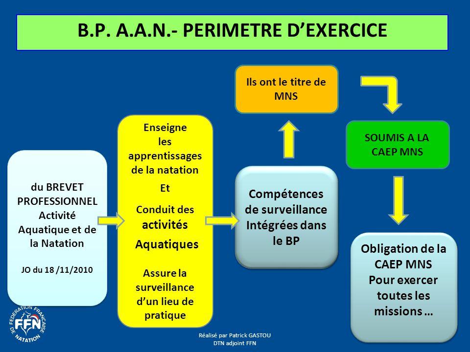 B.P. A.A.N.- PERIMETRE D'EXERCICE