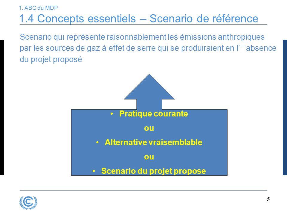 1. ABC du MDP 1.4 Concepts essentiels – Scenario de référence