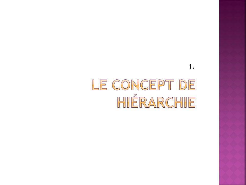 Le concept de hiérarchie