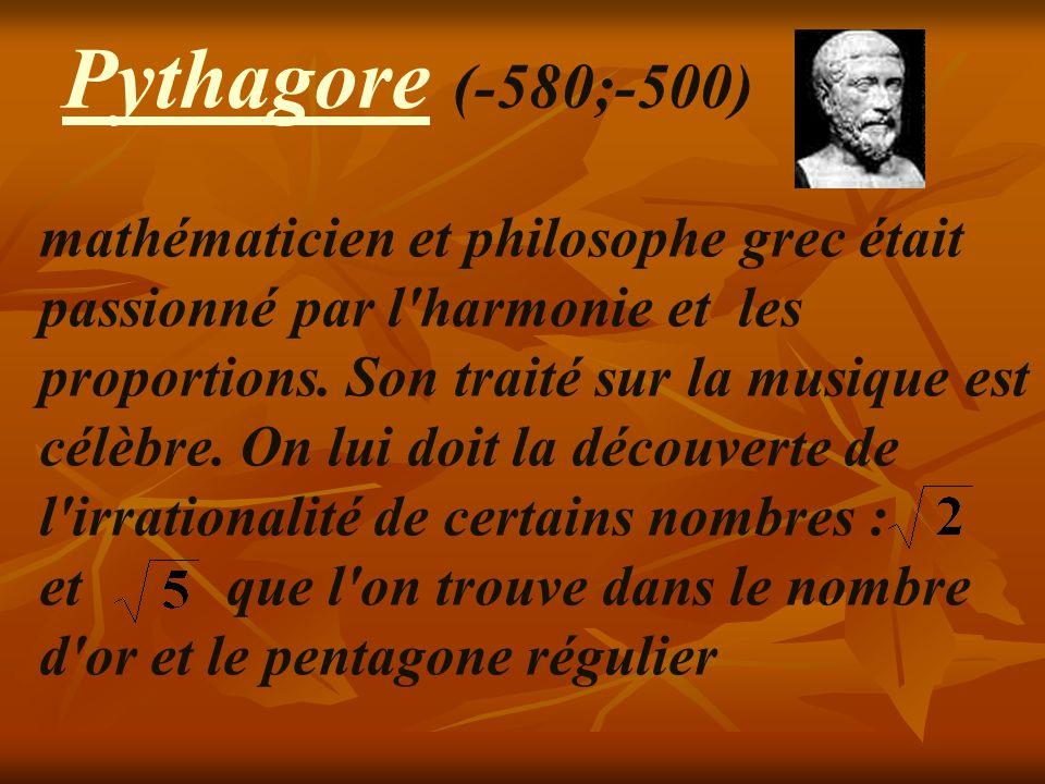 Pythagore (-580;-500)