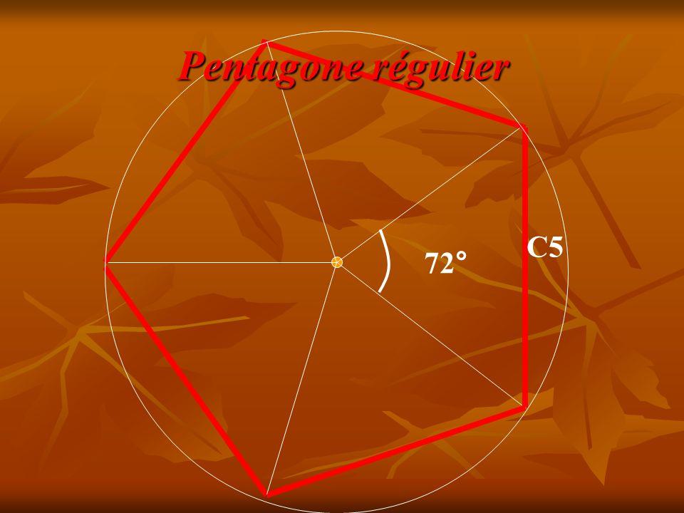 Pentagone régulier C5 72°
